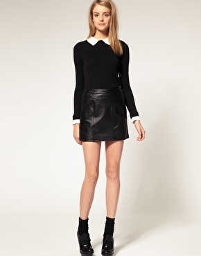 leather skirt | Snap Fashion