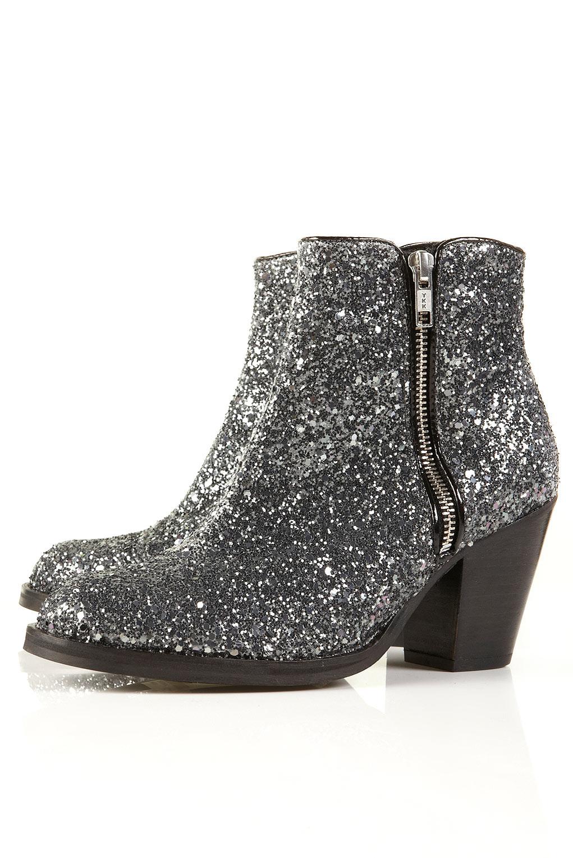 glitter boots snap fashion