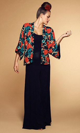 Kimono with maxi dress