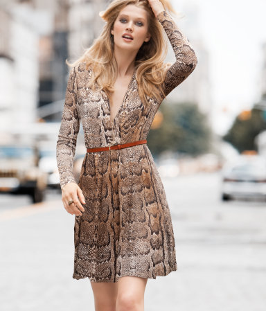 Snakeskin Dress Snap Fashion