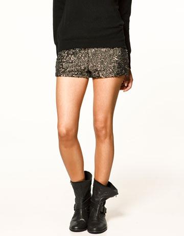 haut de gamme pas cher comment acheter vêtements de sport de performance Zara sequin shorts | Snap Fashion