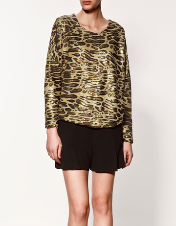 As worn by model. Jumper £49.99 from Zara