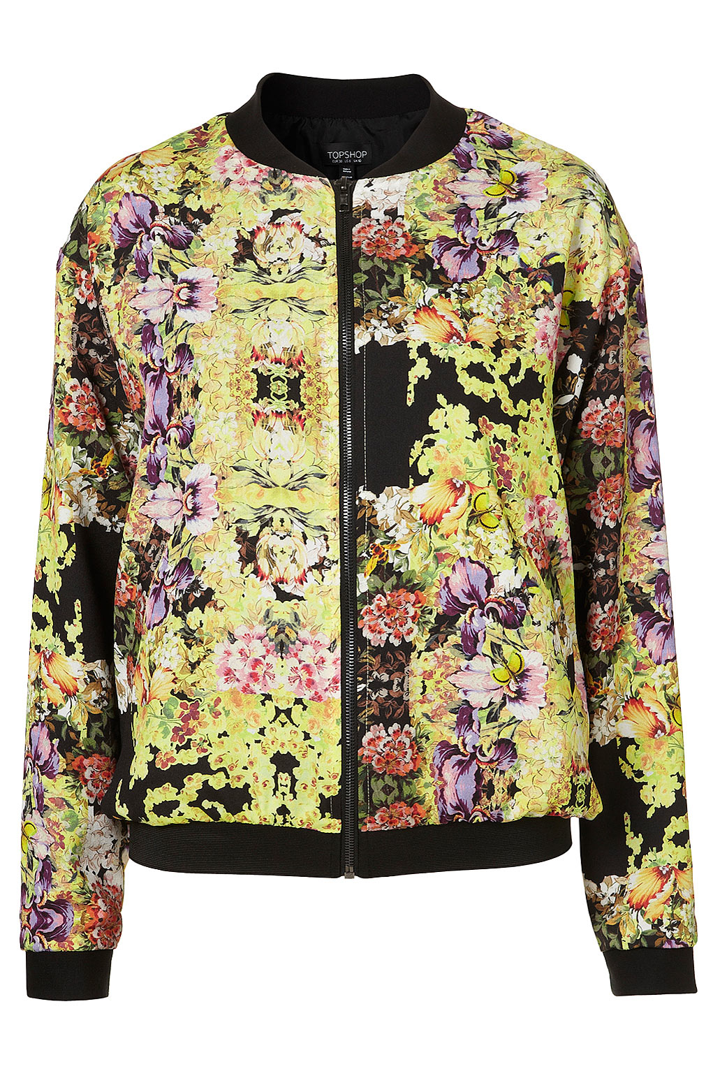 We love bringing you distinctive pieces for your active lifestyle, and you'll love this bomber jacket with colorful embroidery on the front and sleeves, an exposed front zip.