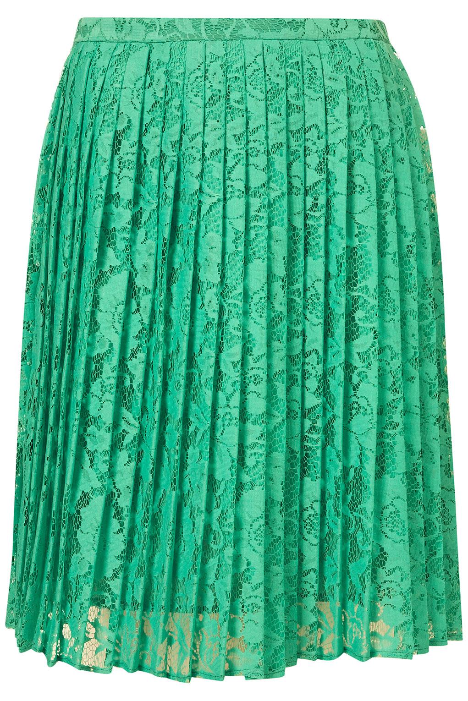 green lace skirt snap fashion